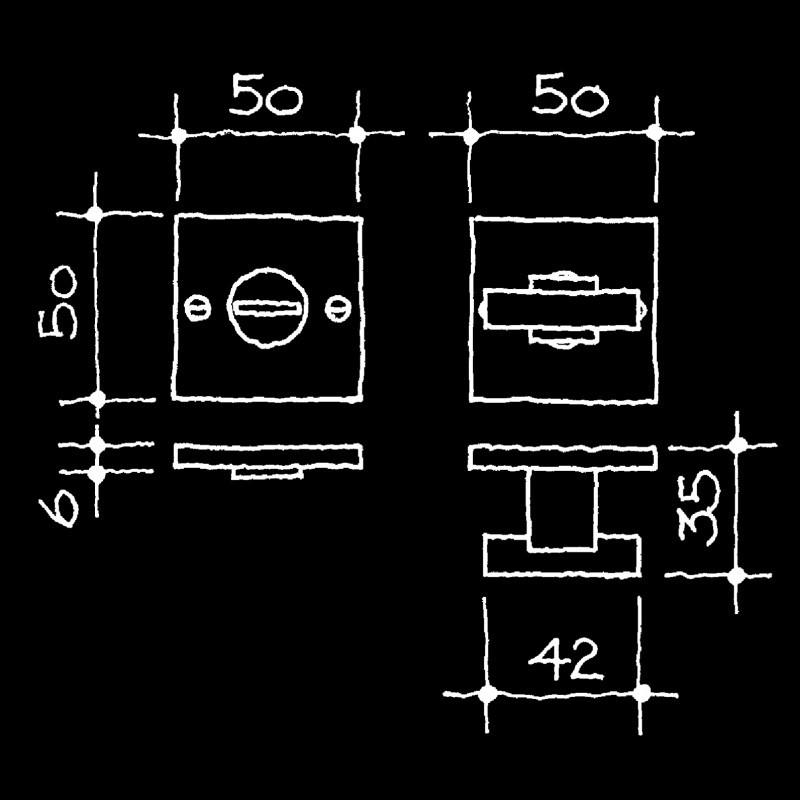 WC/Bad-Drehriegel Manufaktur (55.105.20.)