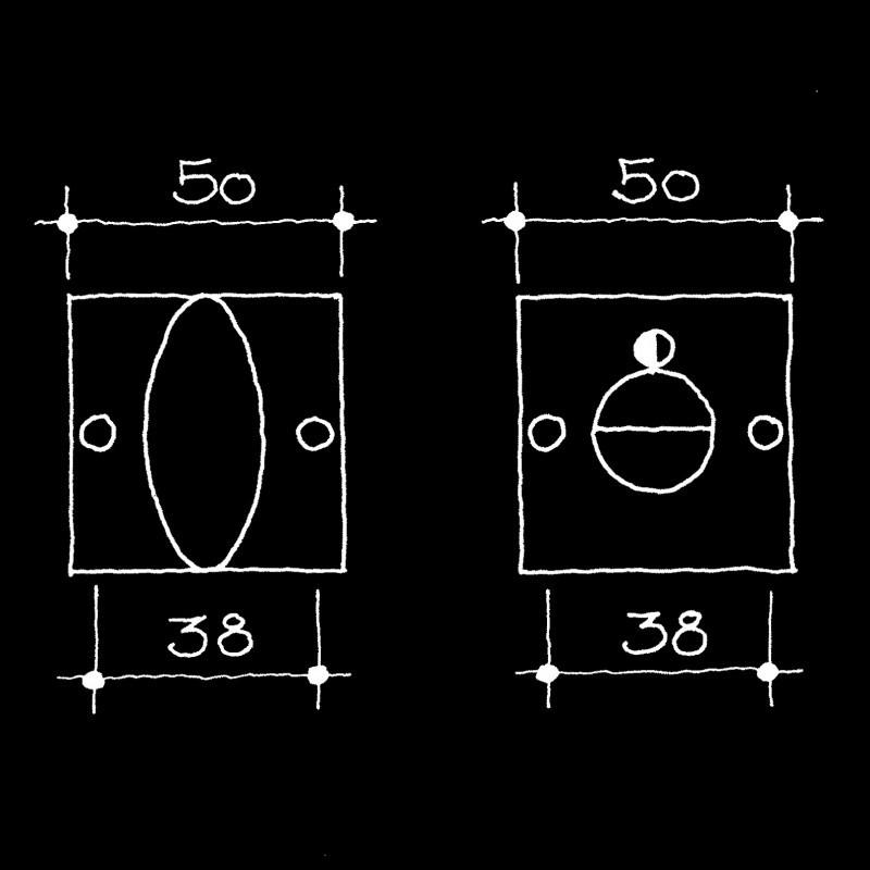 WC/Bad-Drehriegel Bauhaus Gropius Walter (55.165.11.)