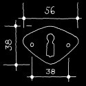 Schlüsselrosette FIFTY ONE - Rosetten Neuheiten (55.463.11.)