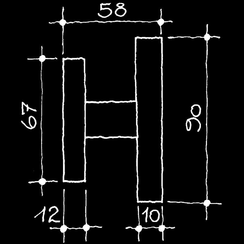 Fenstergriffe U.S.W. Wright Frank Lloyd (66.028.64.)
