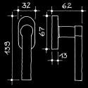 Fenstergriff - Fenstergriffe Manufaktur (66.971.60.)