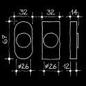 Dornschlüsselrosette - Abschliessbare Fensterrosetten Manufaktur (67.728.64.)