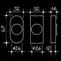 Dornschlüsselrosette - Abschliessbare Fensterrosetten Manufaktur (67.729.23.)