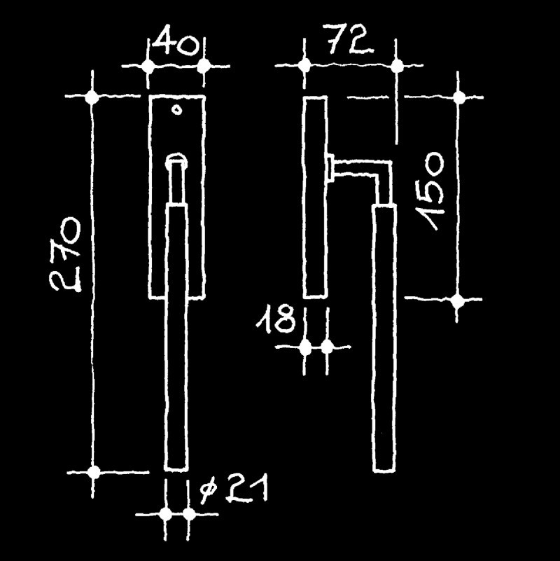 Hebeschiebetürgriffe Bauhaus Gropius Walter (67.779.20.)