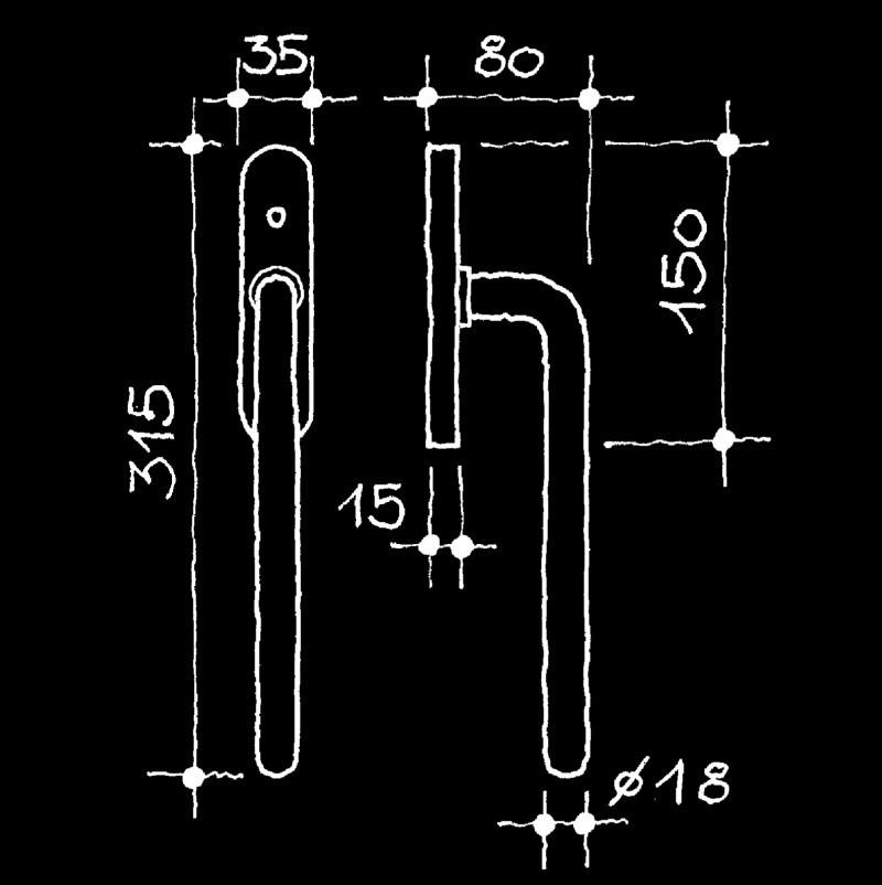 Hebeschiebetürgriffe Industrie-Klassiker Wittgenstein Ludwig (67.787.23.)