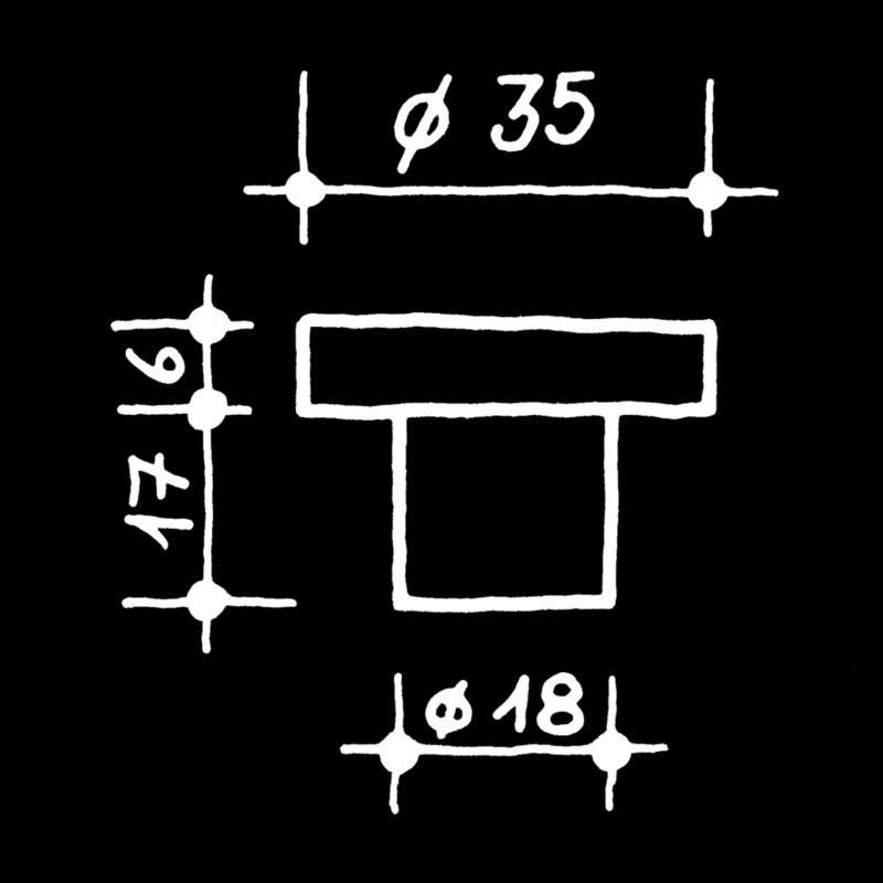 Boutons de meubles U.S.W. U.S.W. (78.502.64.)